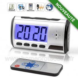 Mini Réveil Digital Caméra espion avec Télécommande
