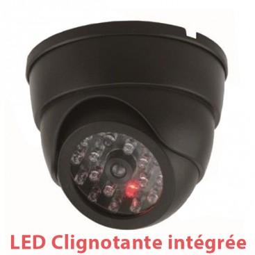 Caméra encastrable factice avec LED rouge clignotante