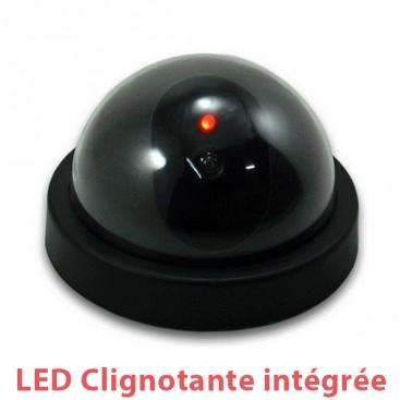 Caméra dôme factice avec LED rouge clignotante