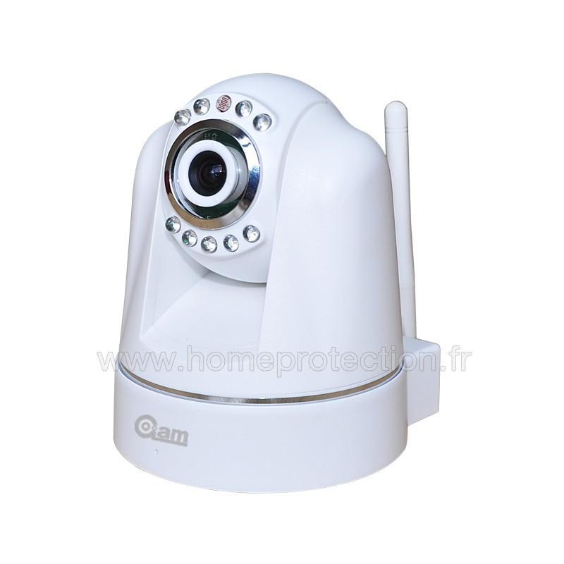 Cam ra ip motoris e wifi rotation 270 degr s avec vision nocturne d tection de mouvements avec - Camera wifi interieur ...