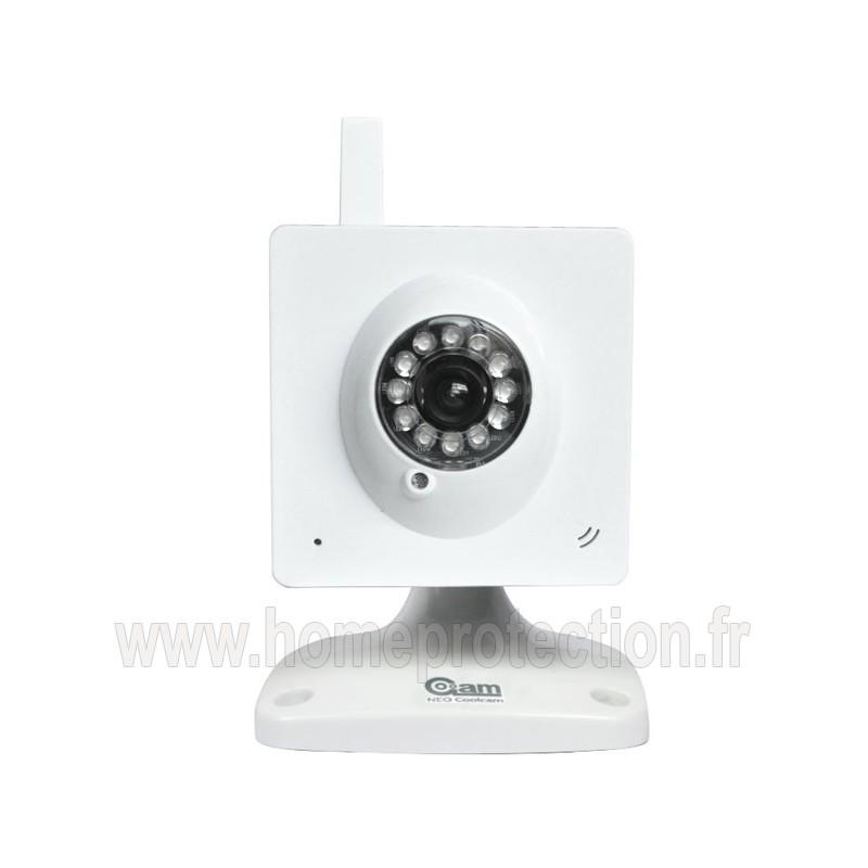 Cam ra ip wifi fixe blanche avec vision nocturne - Camera wifi interieur ...