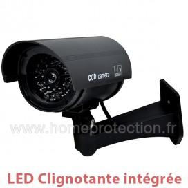 Caméra factice noire extérieur/intérieur avec LED rouge clignotante