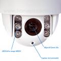 Caméra IP CAM700HD 720p Dôme extérieur motorisé WiFi zoom optique 10x