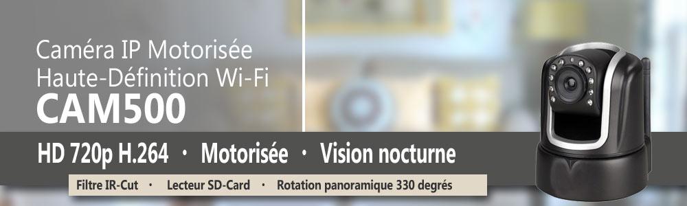cam ra ip motoris e wifi hd 720p rotation 330 degr s avec vision nocturne lecteur sd card. Black Bedroom Furniture Sets. Home Design Ideas