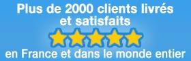 Plus de  2000 clients satisfaits en France et dans le monde