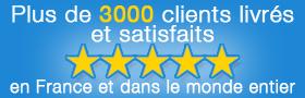 Plus de  3000 clients satisfaits en France et dans le monde